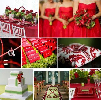 Karácsonyi esküvői dekoráció