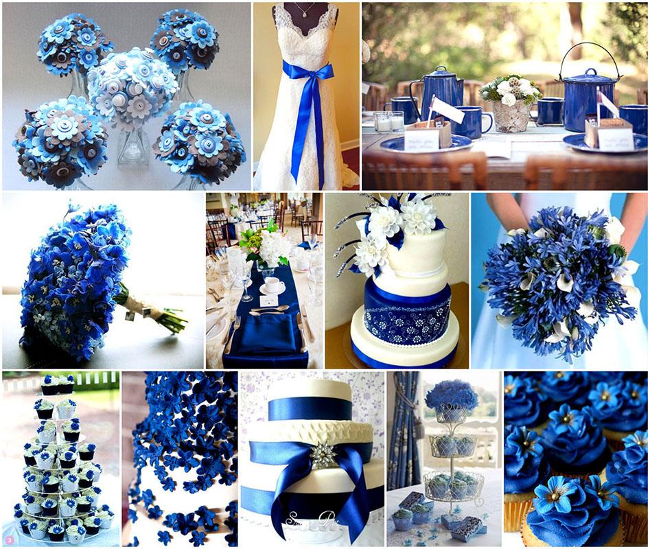 Kék esküvői dekoráció