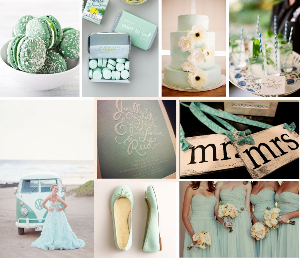 Menta esküvői dekoráció