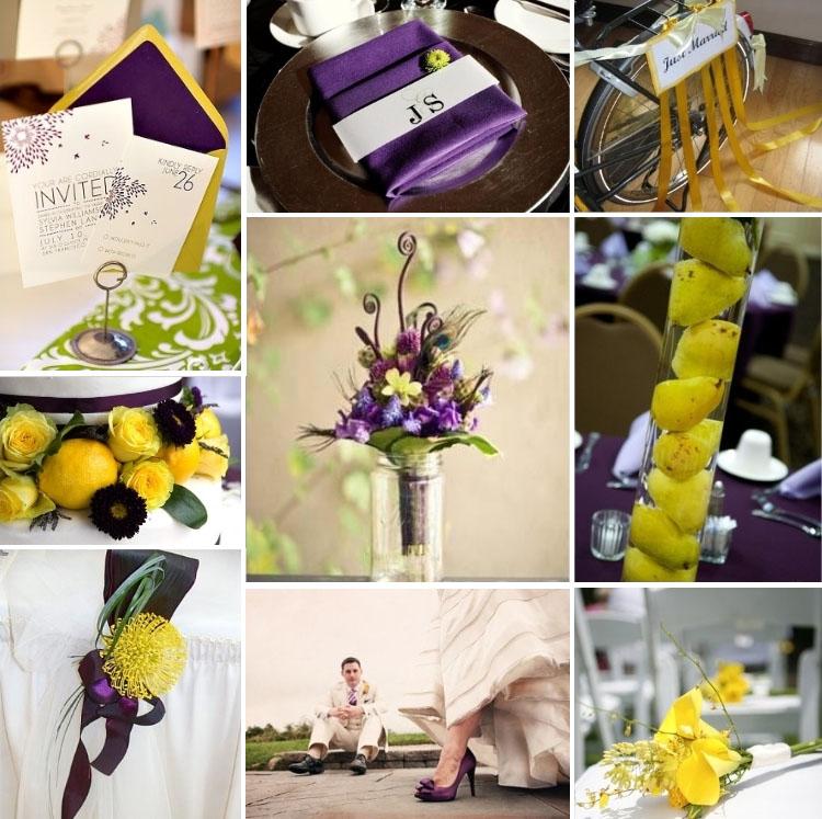 Lil, sárga esküvői dekoráció