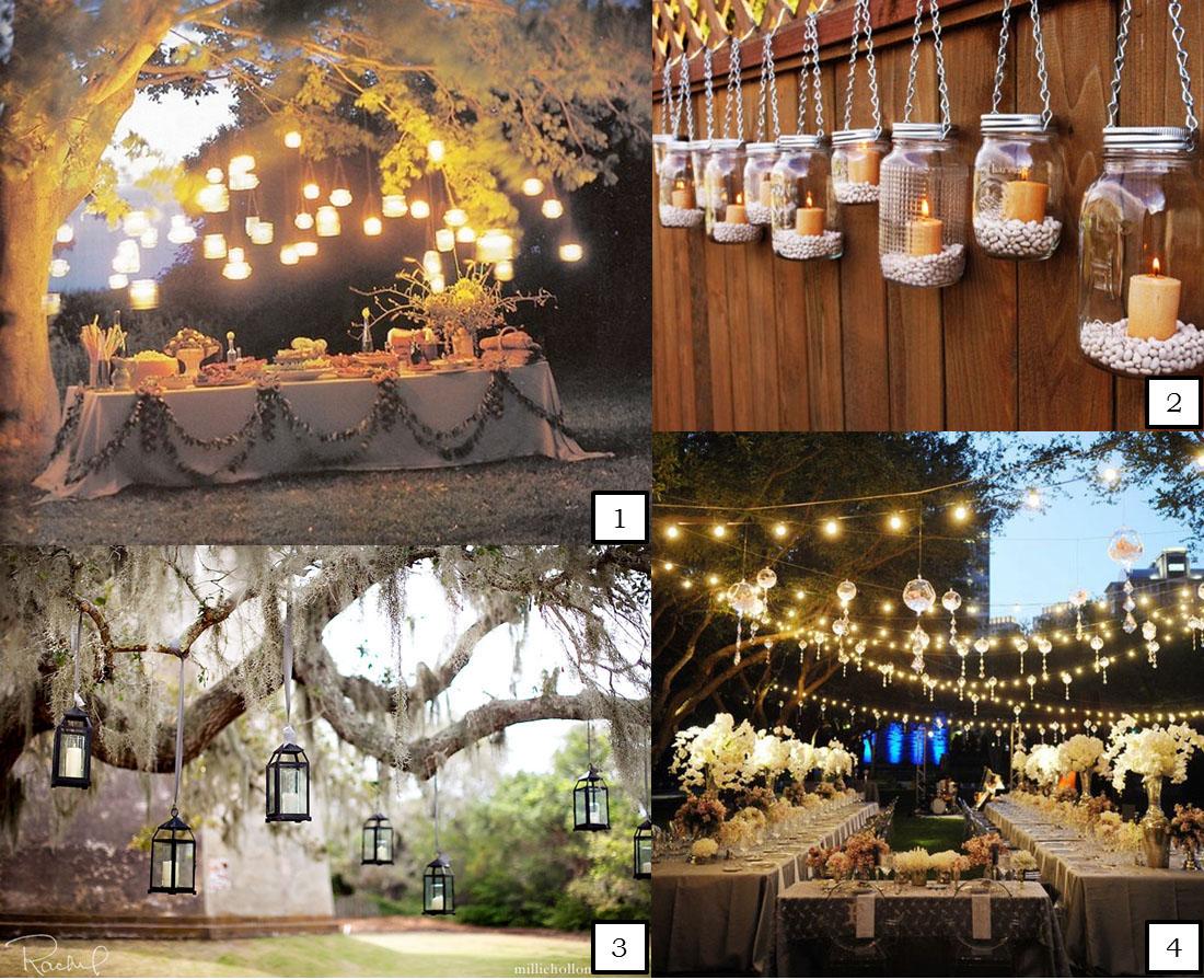 Fénykert esküvői dekoráció
