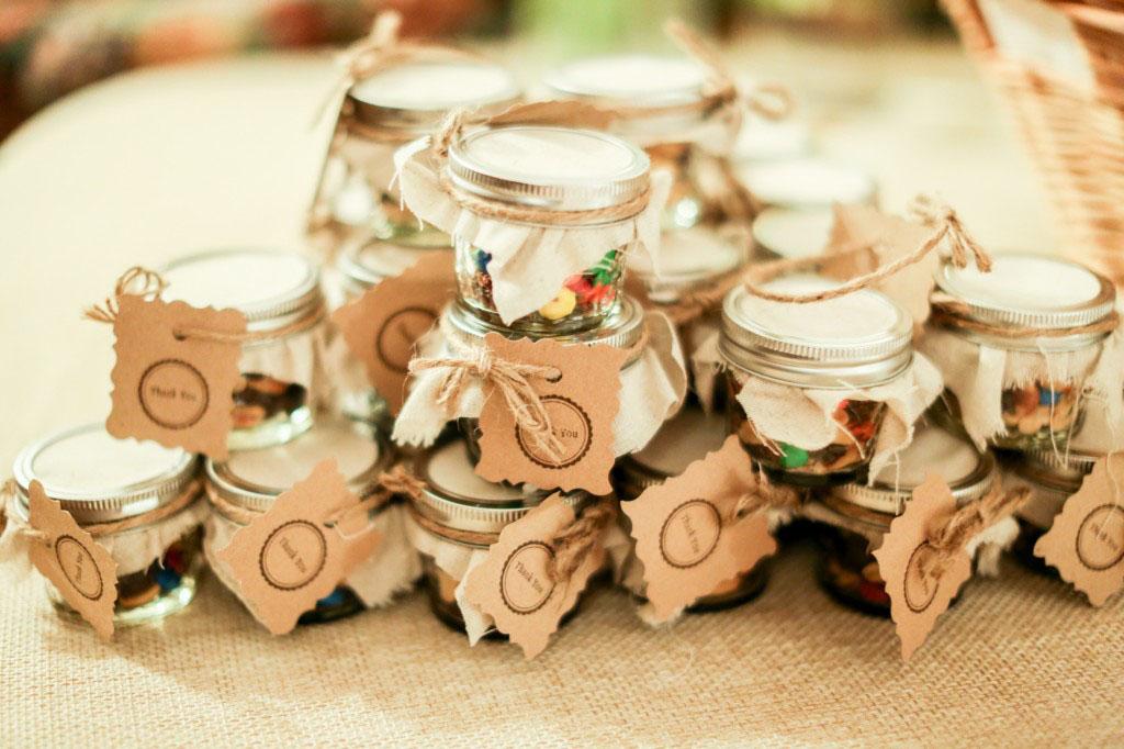 Gyümölcsös esküvői köszönő ajándék