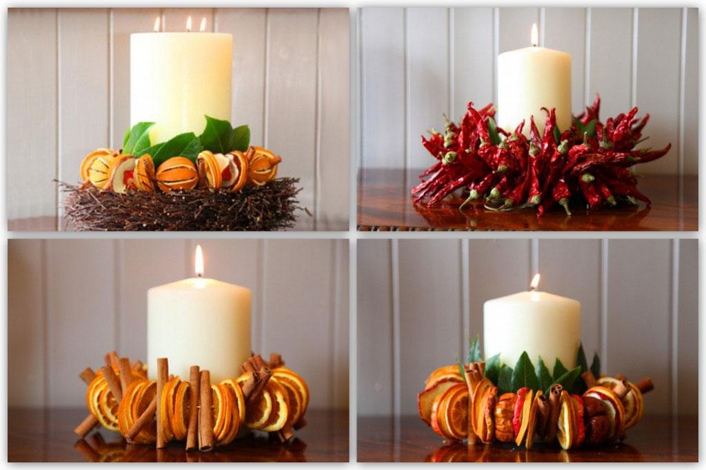 Szárított gyümölcs asztaldísz esküvői dekoráció