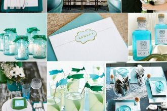 Aqua marine esküvői dekoráció