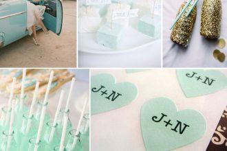 Menta zöld esküvői dekoráció