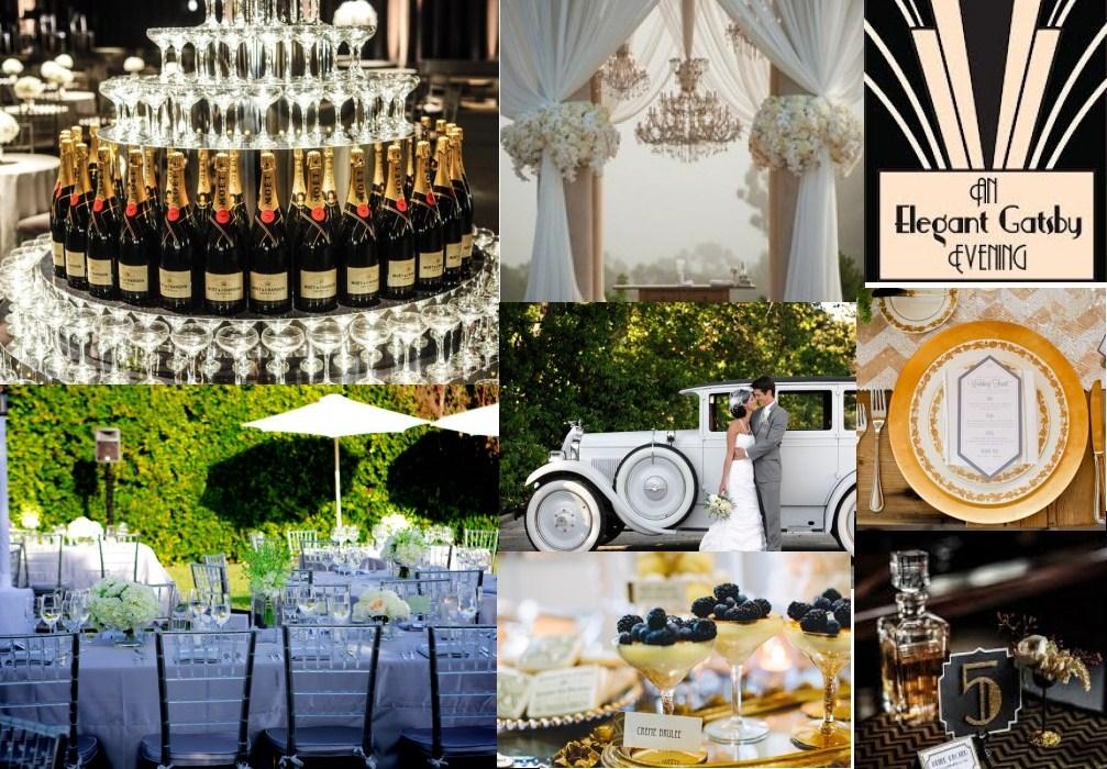 Nagy Gatsby esküvői dekoráció