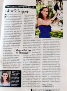 2011.06. - Joy magazin - Károlyi Krisztina Wedding Factory - Esküvői dekoratőr és virágkötő