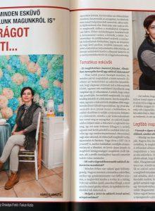 2015.03. - Jóker magazin - Károlyi Krisztina Wedding Factory - Esküvői dekoratőr és virágkötő