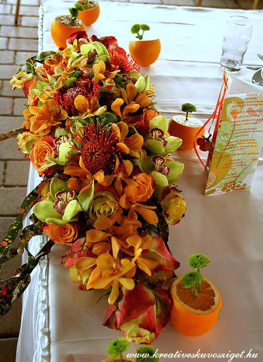 Hawaii esküvői dekoráció