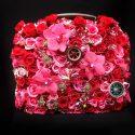 Piros, pink, bordó menyasszonyi csokor táska