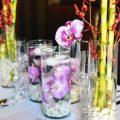 Bordó - pink esküvői dekoráció, asztaldísz