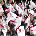 Bordó - pink esküvői dekoráció, köszönet ajandék
