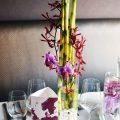 Bordó - pink esküvői dekoráció, menükártya
