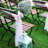 Rózsaszín esküvői dekoráció, székmasi