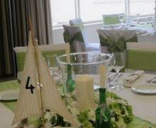 Fehér hajós asztaldísz