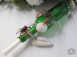 esküvői dekoráció palack