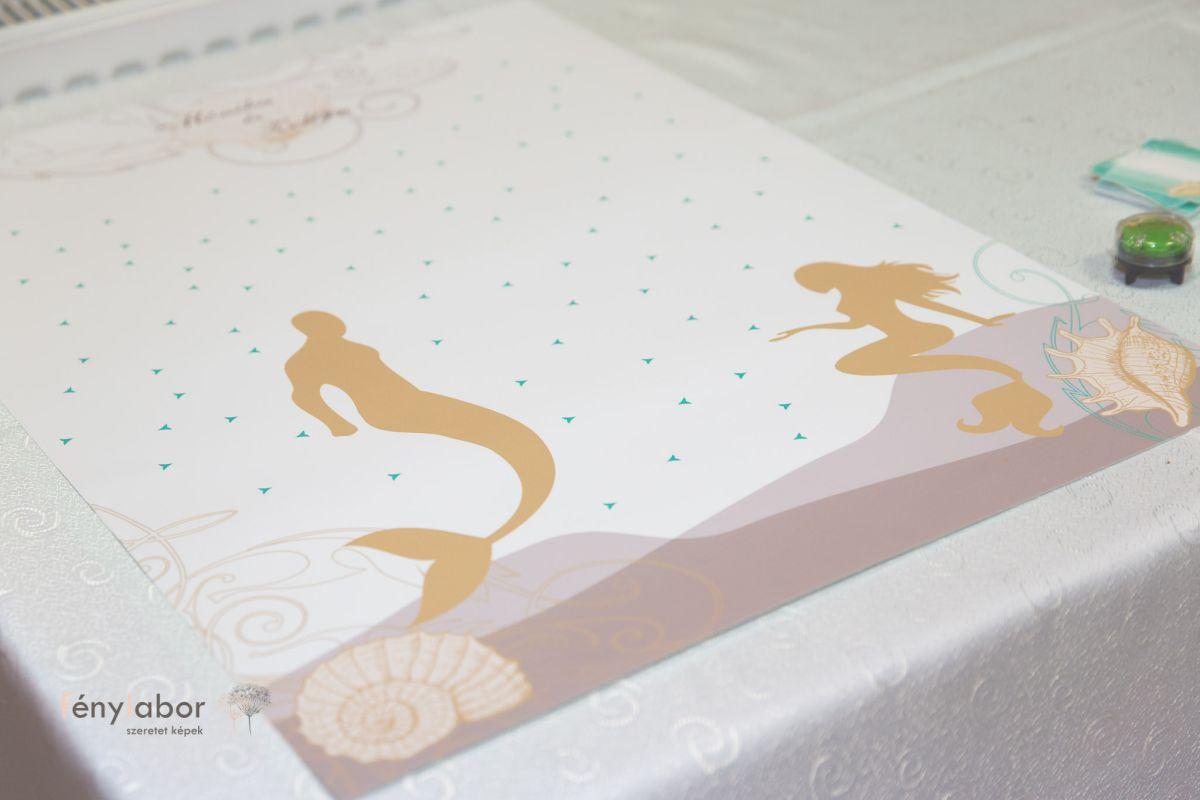 tengeri esküvői dekoráció