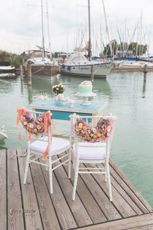 esküvői dekoráció kikötő