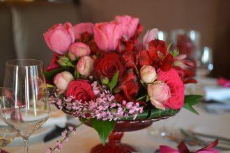 bordó pink rózsacsokor