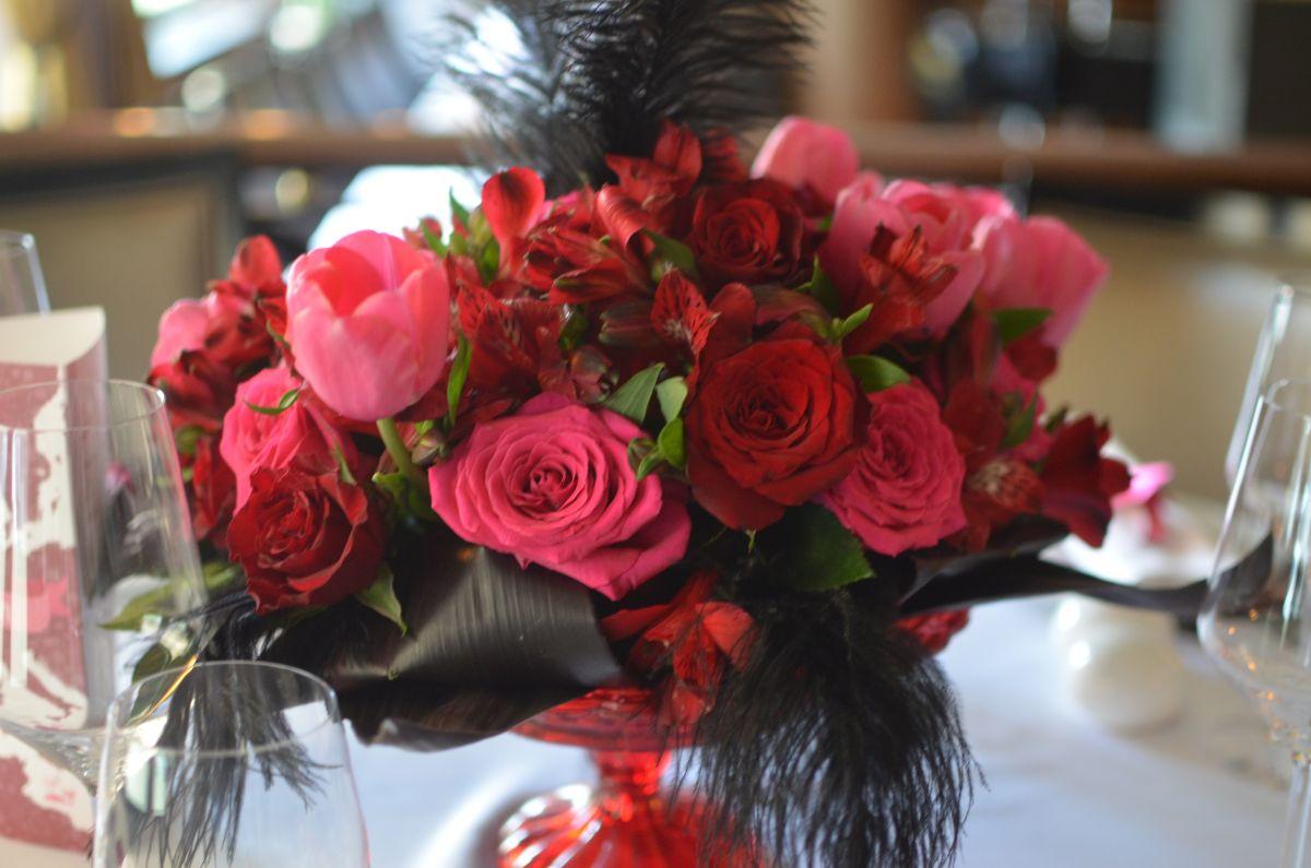 bordó pink virágcsokor