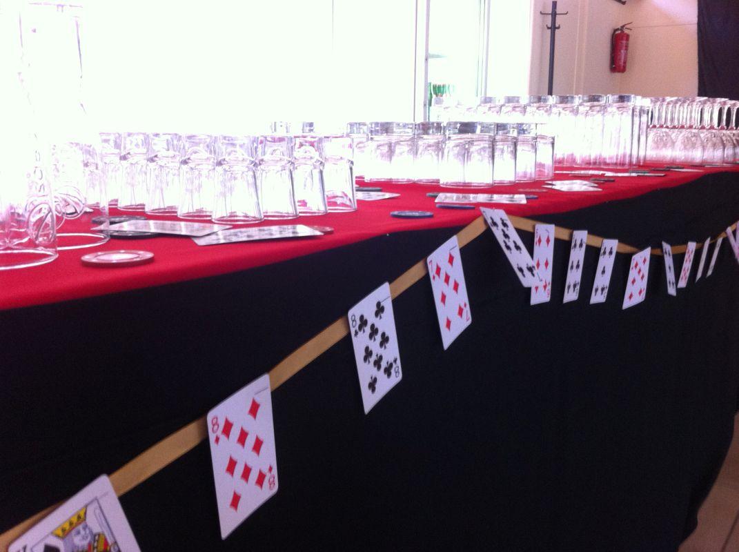 esküvői dekoráció póker