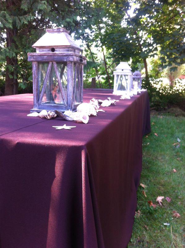 esküvői dekoráció a szabadban