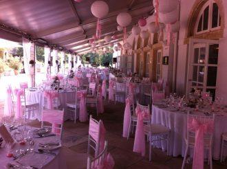 Lampionos esküvői dekoráció