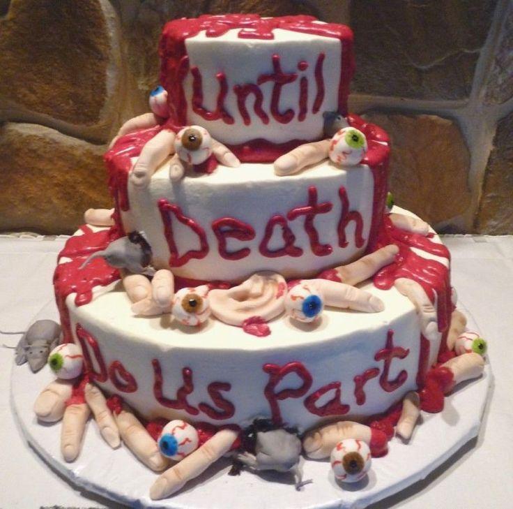 Horror esküvői torta