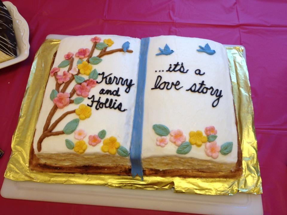 Könyv esküvői torta
