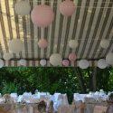 Fehér-rózsaszín esküvői dekoráció