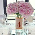 Hortenzia esküvői asztaldísz