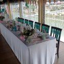 Menta-rózsaszín esküvői dekoráció