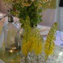 Natúr esküvői asztaldísz