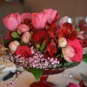 Pink esküvői asztaldísz