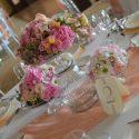 Pink vintage esküvői dekoráció