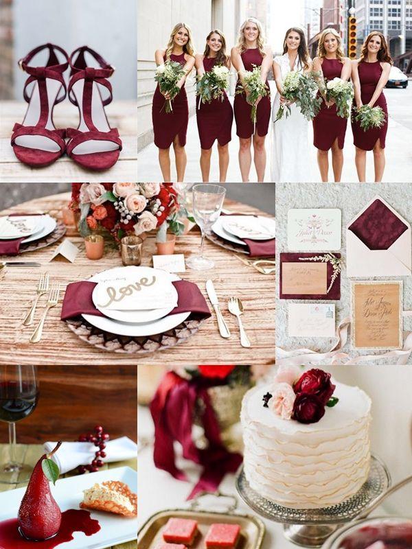 Vörös esküvői dekoráció