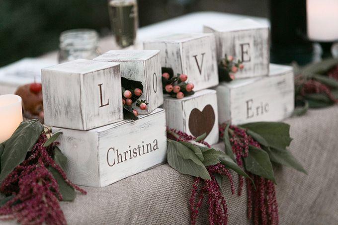 LOVE esküvői dekoráció
