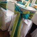 Zöld-kék esküvői dekoráció
