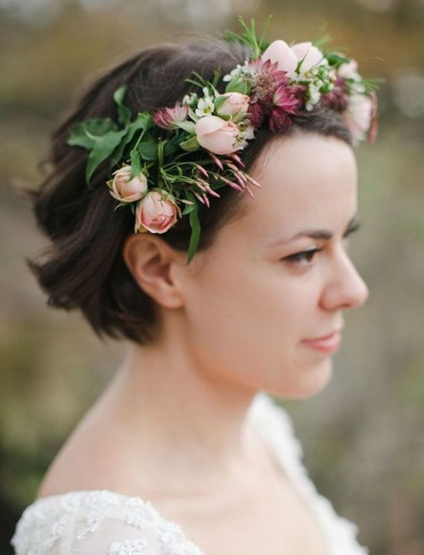 Elegáns esküvői fejdísz