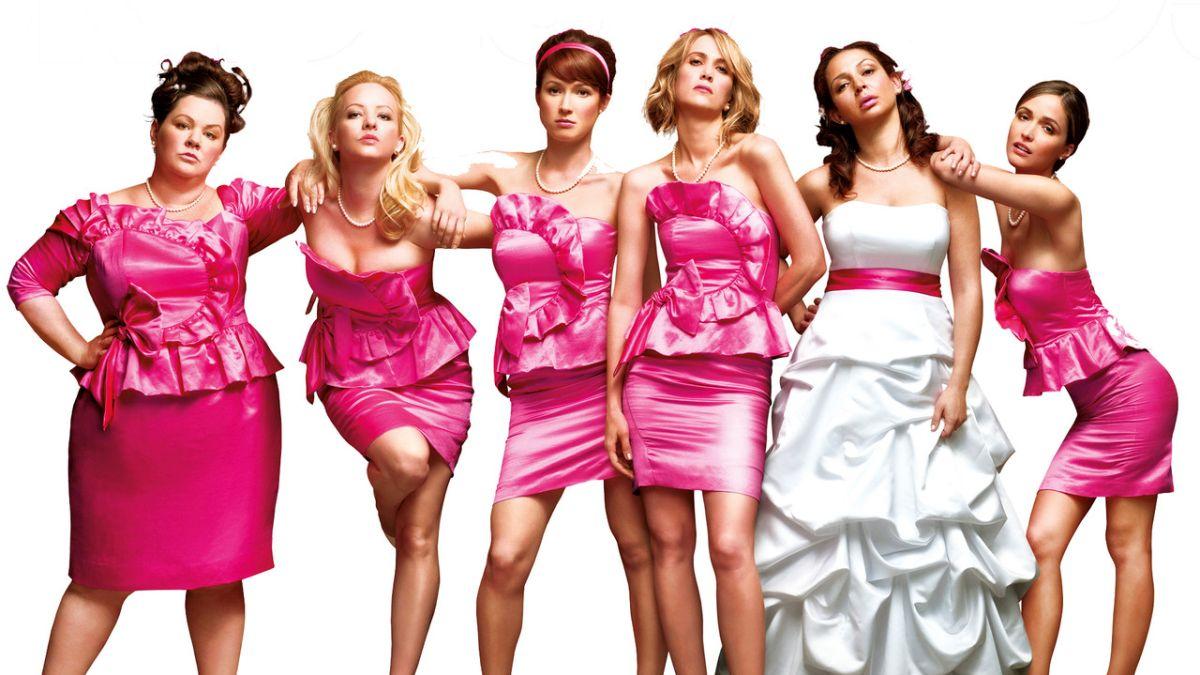 Pink koszorúslányok