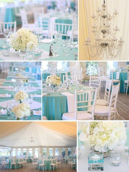Kék-sárga esküvői dekoráció