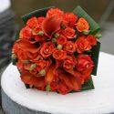 Piros menyasszonyi csokor