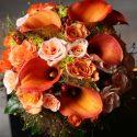 Őszi narancs menyasszonyi csokor