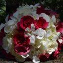 Pink fehér menyasszonyi csokor