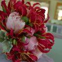 Pink menyasszonyi csokor