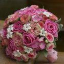 Pink-púder menyasszonyi csokor