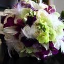 Vintage lila menyasszonyi csokor