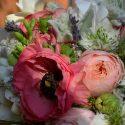 Rózsaszín-zöld vintage menyasszonyi csokor
