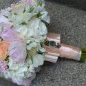 Rózsaszín vintage menyasszonyi csokor