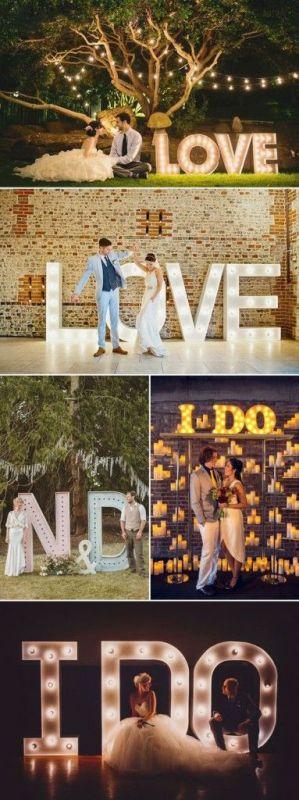 Esküvői dekoráció speciális fényekkel